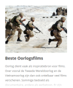 Beste oorlogsfilms