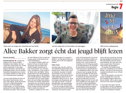 Leidsch Dagblad 30-1-20 Alice Bakker
